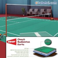 taşınabilir badminton kortu